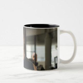Exercising, Gym, Sport, Man, Body care, Day, Two-Tone Coffee Mug