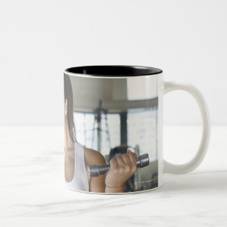 Exercising, Gym, Sport, Woman, Body care, Day, Two-Tone Coffee Mug