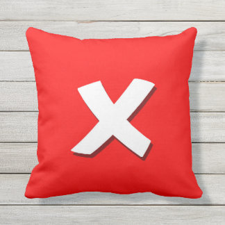 Exit button square pillow