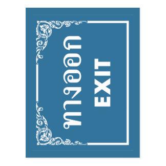 Exit Sign, Thailand Postcard