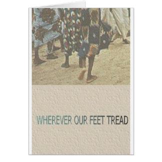 EXOBIA GREETINGS: Wherever Our Feet Tread Card