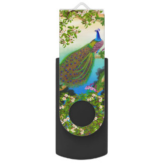 Exotic Blue Indian Peacock 3.0 Flash Drive 64 GB