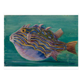 Exotic Fish by Marianne North Postcard
