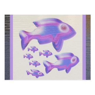 Exotic Fish FAMILY Postcard