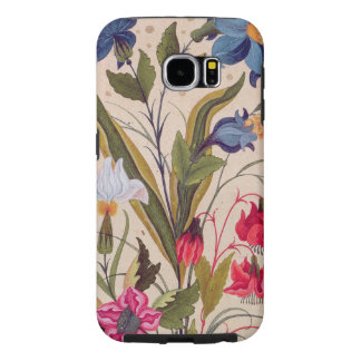 Exotic Flowers Vintage Floral Watercolor Art Samsung Galaxy S6 Cases
