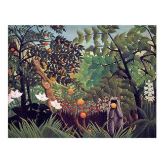 Exotic Landscape 1910 by Henri Rousseau Postcard