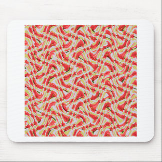 Exotic Red Tulip petal based Waves Patterns GIFTS Mouse Pad
