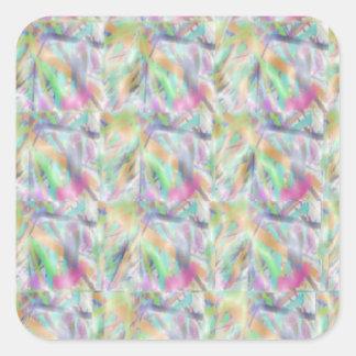 EXOTIC Sea Shells n Motifs Square Stickers