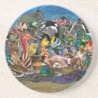 Exotic Tropical Fish Aquarium Coaster