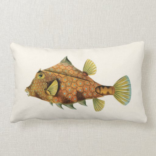 Exotic Tropical Fish in Orange and Yellow Throw Pillow