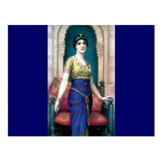 Exotic woman palace paiting postcard