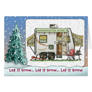 Expandable Hybred Trailer Camper Holiday Cards