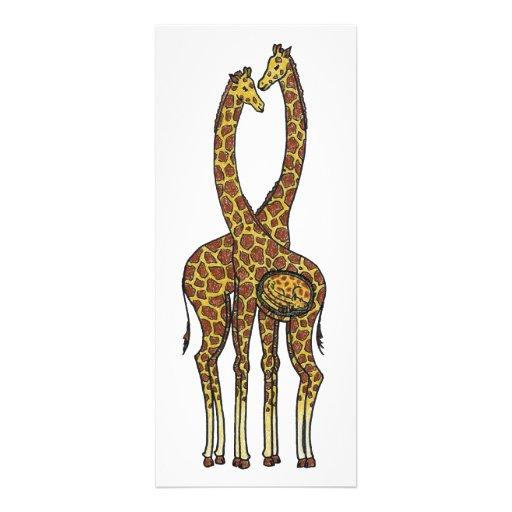Expectant Giraffes Custom Invites