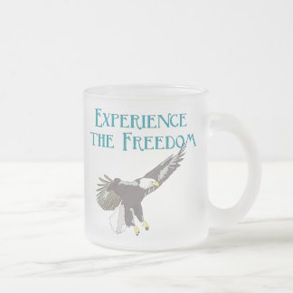 Experience the Freedom Frosted Glass Mug