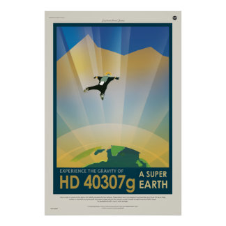 Experience the Gravity of a Super Earth HD 40307g Poster