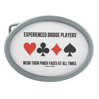 Experienced Bridge Players Wear Their Poker Faces Oval Belt Buckles