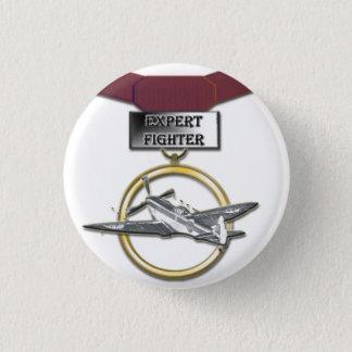 Expert Fighter medal button