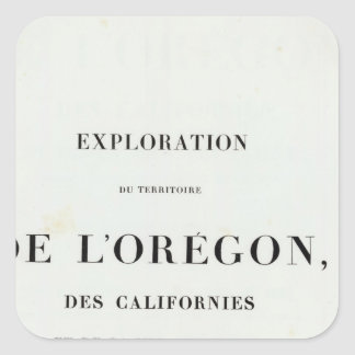 Exploration of Oregon 3 Square Sticker
