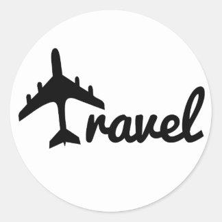 Explore Dream Discover - Travel Classic Round Sticker