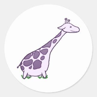 Explore Giraffe Classic Round Sticker
