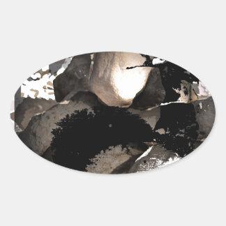 explore oval sticker