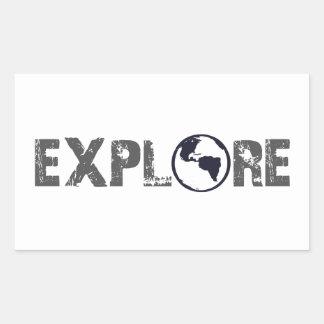 Explore Rectangular Sticker