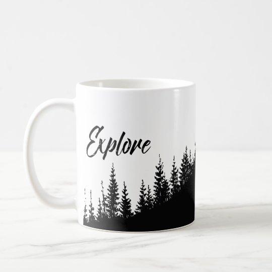 Explore the forest pretty coffee mug