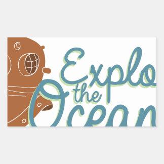 Explore The Oceans Rectangular Sticker