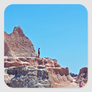 """Exploring the Badlands"" collection Square Sticker"
