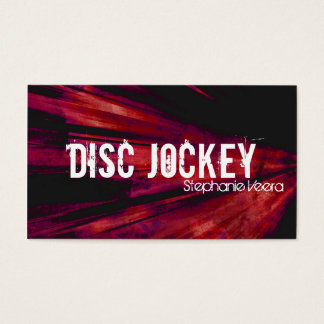 Explosion Disc Jockey Music Business Card - Red