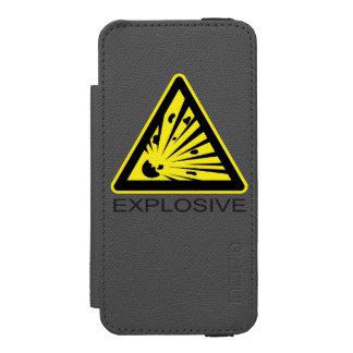 Explosive Hazard Sign Incipio Watson™ iPhone 5 Wallet Case