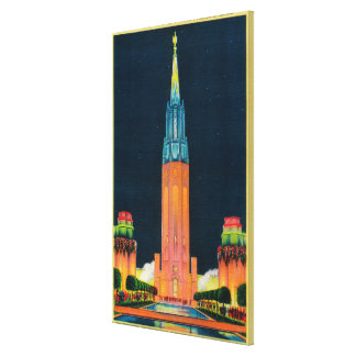 Exposition Tower, The Spire to the Sun Stretched Canvas Prints