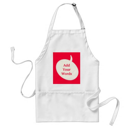 Express Yourself Red Apron