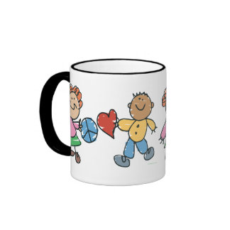 Extended Hands of Peace and Love Ringer Mug