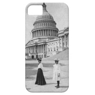 Exterior of the Capitol building with women Case For The iPhone 5