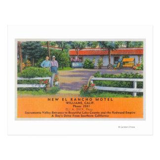 Exterior View of New El Rancho Motel Postcard