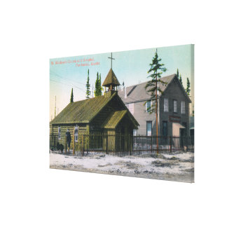 Exterior View of St. Mathew's Church and Canvas Print