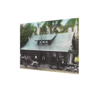 Exterior View of the Club House Canvas Print