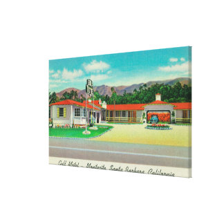Exterior View of the Golf Motel, Montecito Canvas Print