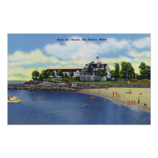 Exterior View of the Hotel Bar Harbor Posters