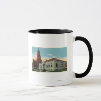 Exterior View of the Library and City Hall Mug