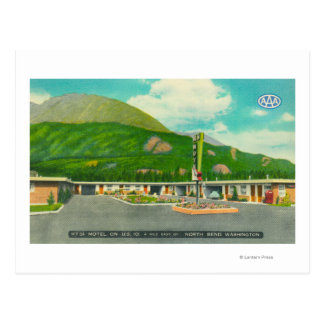 Exterior View of the Mt. Si Motel Postcard