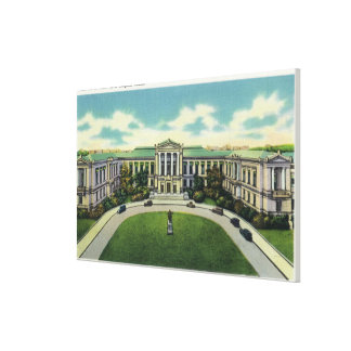 Exterior View of the Museum of Fine Arts # 2 Canvas Print