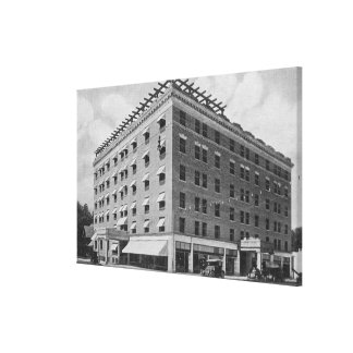 Exterior View of the Owyhee HotelBoise, ID Canvas Print