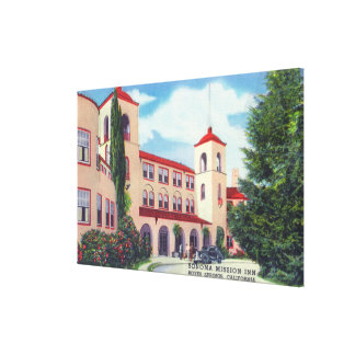 Exterior View of the Sonoma Mission Inn Canvas Print