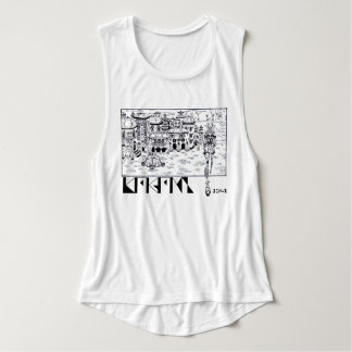 extraterrestrial landscape with character manga singlet