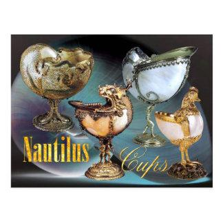 Extravagant Nautilus Cups Postcard