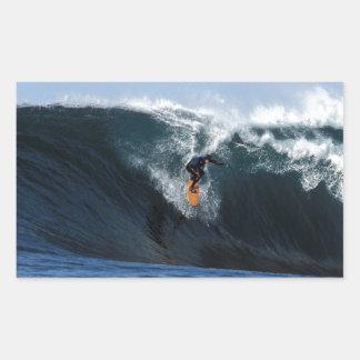 Extreme big wave surfing New Zealand Rectangular Sticker