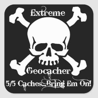 Extreme Geocacher Square Sticker