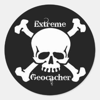 Extreme Geocacher Round Sticker